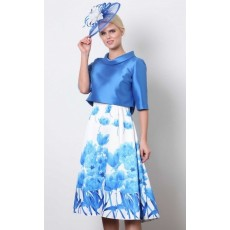 Lizabella Dress Blue Print