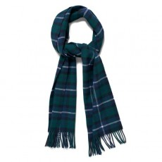 Gant Checked Lambswool Scarf Green