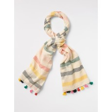 White Stuff Woven Dash Stripe Scarf Multi