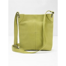 White Stuff Blake Leather Crossbody Moss Green