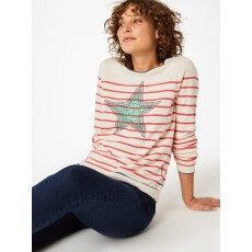 White Stuff Illustration  Star Jumper Oatmeal
