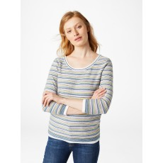 White Stuff Misty Lake Stripe Jumper Green Stripe