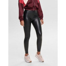 Only Cool Coated Leggings Black