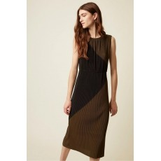 Great Plains Marine Jersey Round Neck Olive and Black Dress