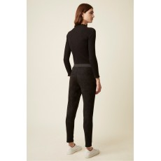 Great Plains Belle Vue Black Suedette Trousers