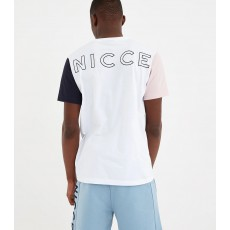 Nicce Neos T-Shirt White/Dirty Pink/Deep Navy