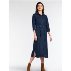Sandwich Woven Medium Dark Blue Denim Dress