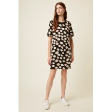 Great Plains Margot Spot Short Sleeve Black/Amaretto Dress