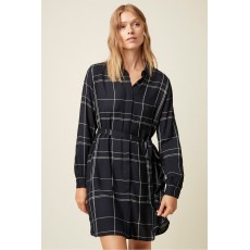 Great Plains Agnes Check Navy Combo Dress