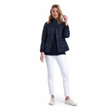 Barbour Hawse Quilt Navy/Deep Pink