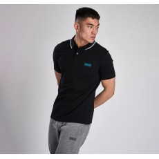 Barbour International  Twin Tipped Polo Black