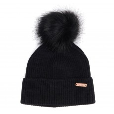 Barbour International  Mallory Pom Beanie Black