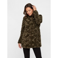 Vero Moda Curl High Neck Faux Fur Jacket