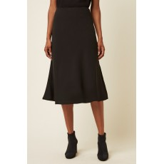 Great Plains Cara Fitted Midi Black Skirt