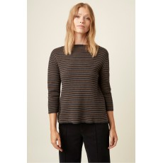 Great Plains Somme Knit Long Sleeve High Neck Olive and Black Jumper