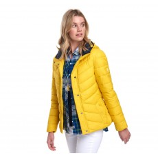 Barbour Hawse Quilt Sulphur Yellow/Navy