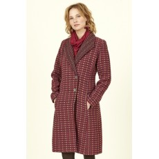 Nomads Shawl Collar Coat Damask