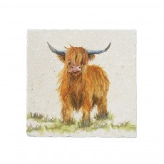 Kate of Kensington Highland Cow Medium Platter