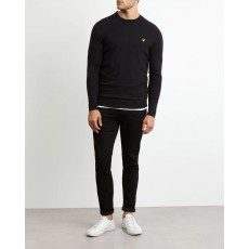Lyle & Scott  Cotton Merino Black Jumper
