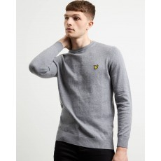 Lyle & Scott  Cotton Merino Mid Grey Jumper