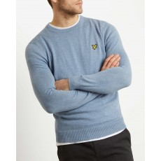 Lyle & Scott  Cotton Merino Stone Blue Jumper