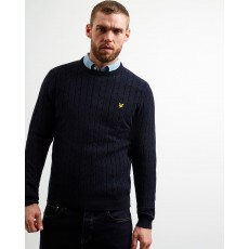 Lyle & Scott  Cable Dark Navy Jumper