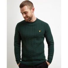 Lyle & Scott  Cable Dark Green Jumper