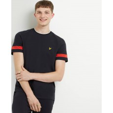 Lyle & Scott  Tipped Black T-Shirt