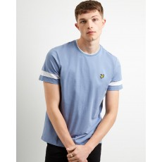 Lyle & Scott  Tipped Stone Blue T-Shirt
