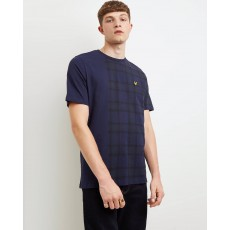 Lyle & Scott  Check Block Navy Check T-Shirt