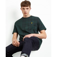 Lyle & Scott  Check Block Green Check T-Shirt