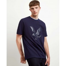 Lyle & Scott  Pique Navy T-Shirt