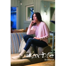 Marble Relaxed Sweater Pink