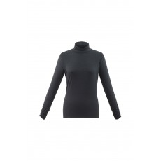 Marble Turtle Neck Top Charcoal