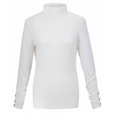 Marble Turtle Neck Top Ivory