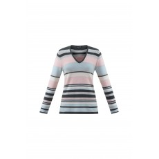 Marble Striped Sweater Charcoal