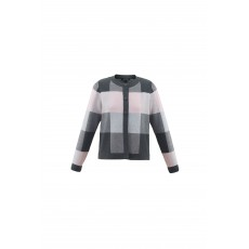Marble Check Cardigan Pink