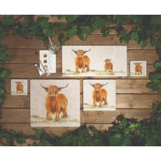 Highland Cow Platter Large