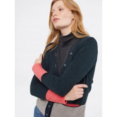 White Stuff Scandi Colourblock Cardi Navy Mix