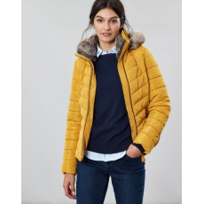 Joules Gosway Chevron Quilt Padded Jacket With Hood