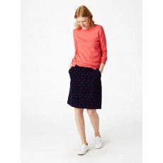 White Stuff Clocktower Embroided Skirt Navy