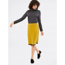 White Stuff Meda Knit Reversible Skirt Sun Chr