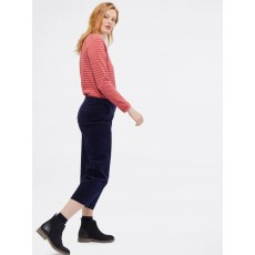 White Stuff Arne Cord WideLeg Crop Trouser Dark Navy