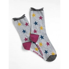 White Stuff Patchwork Stars Socks Multi