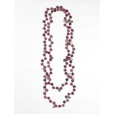 White Stuff Verity Versatile Disc Necklace Flower Plum
