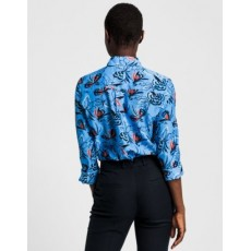 Gant D1. Floral Fly Fish Cot Silk Shirt