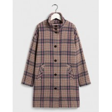 Gant D1. Checked Cocoon Coat