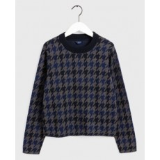 Gant D1. Checked Patterned Crew