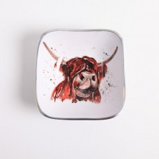 Meg Hawkins Highland Cow Square Bowl 16cm