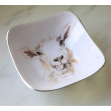 Meg Hawkins Sheep Square Bowl 16cm